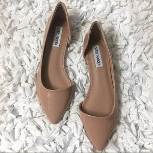 Steve Madden Pointed Toe Blush Flats